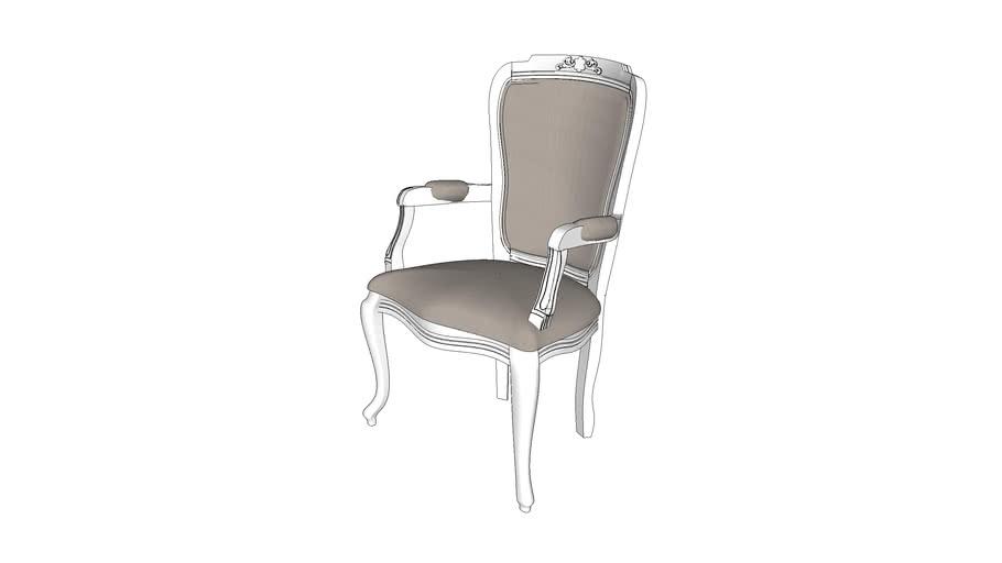Cadeira Bourbon com braço e tecido - Kleiner Schein