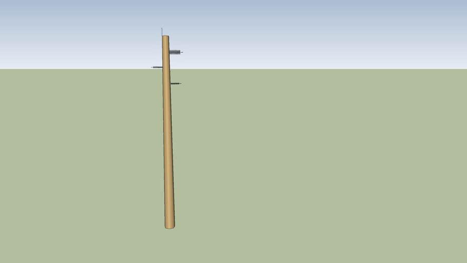 Cement Electrical subtransmission pole
