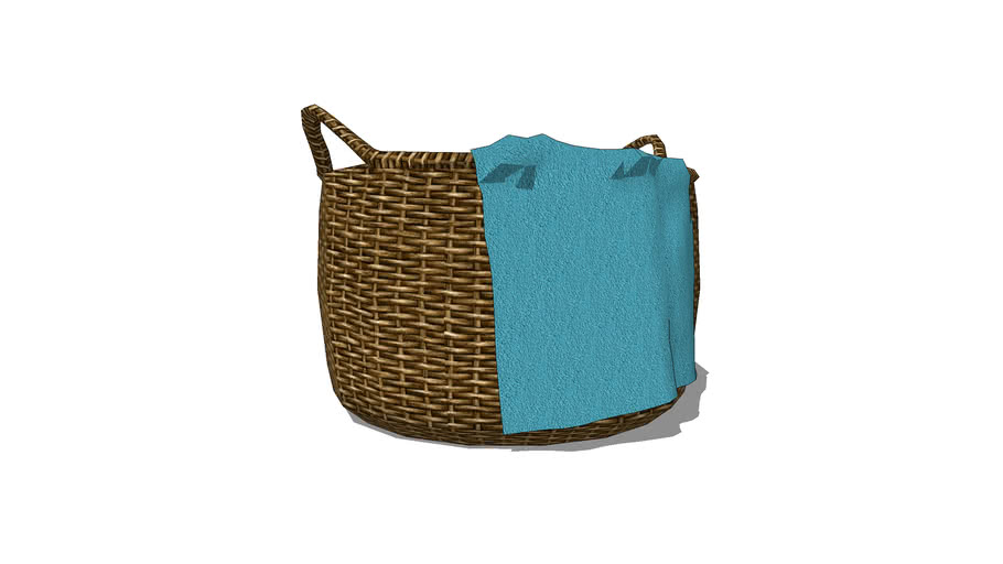 Wicker Basket and Towel
