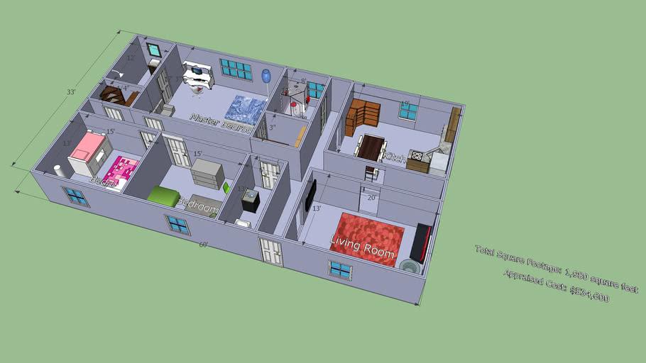 Lot 1: 3D House Model
