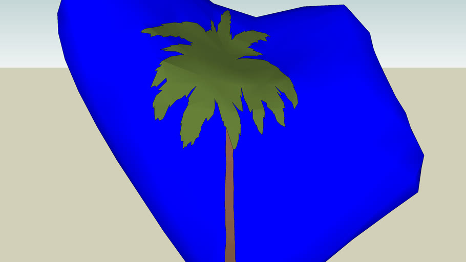 2s intersected palm tree