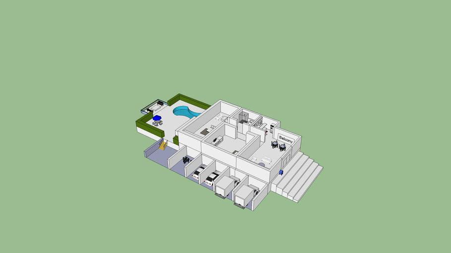 Luxury 2 Bhk Home Plan 3d Warehouse