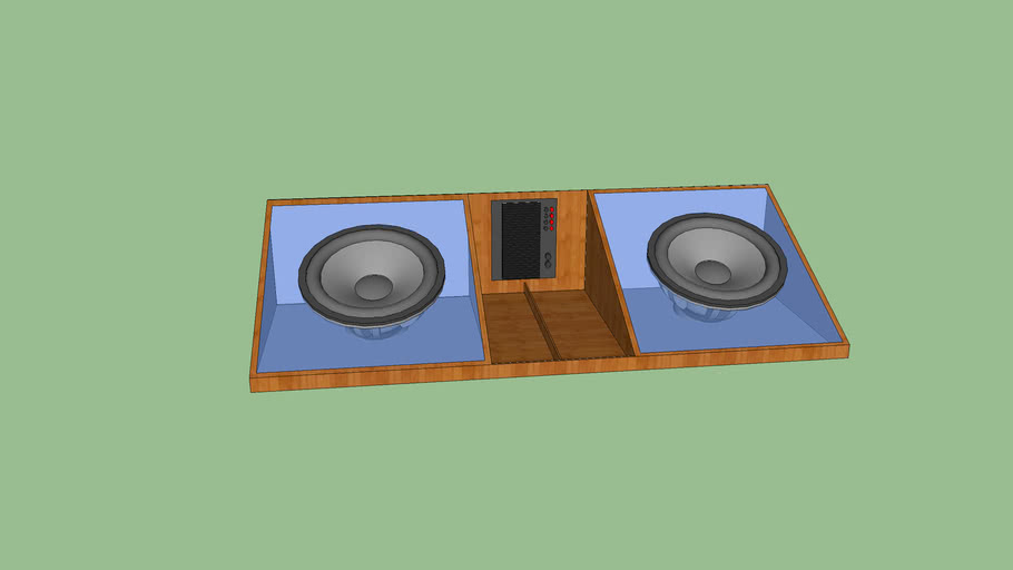 Subwoofer box and Amp