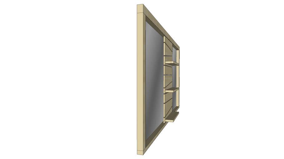 Miroir Salle De Bain Teck Timare Double 140cm Kayumanis 3d