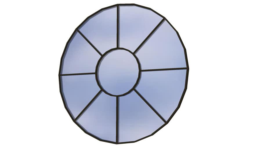 Janela Círculo, em forma de roda