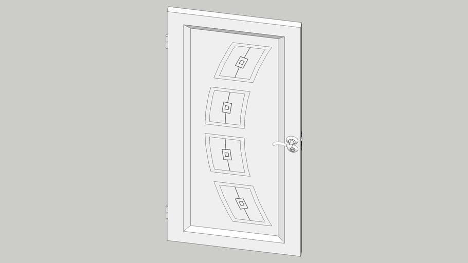 Дверь с ромбами