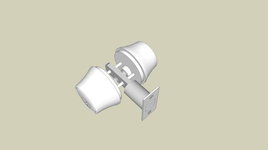 Deadbolt w/ interior keyed cylinder (2 3/8in throw)
