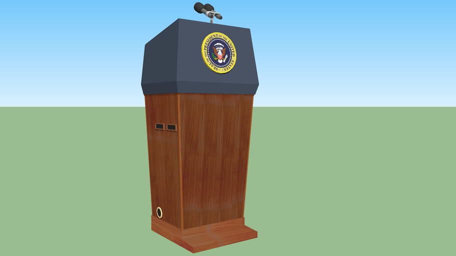 Presidential 'Blue Goose' Lectern