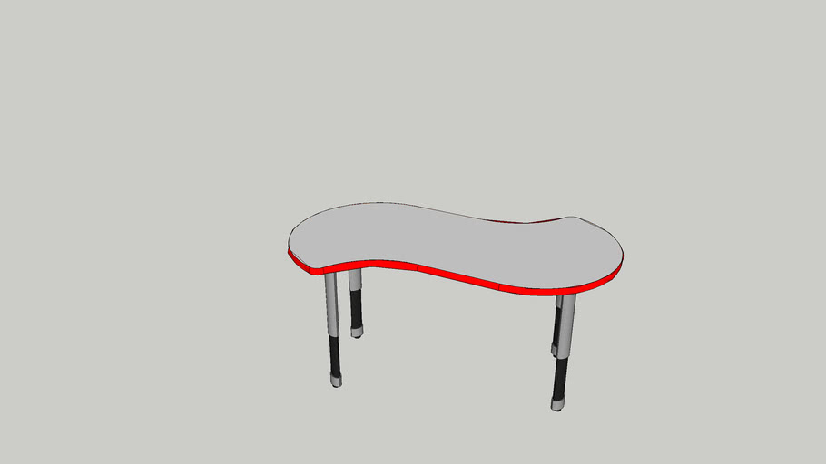 04154 Mini Squiggle Activity Table Height Adj Smith System