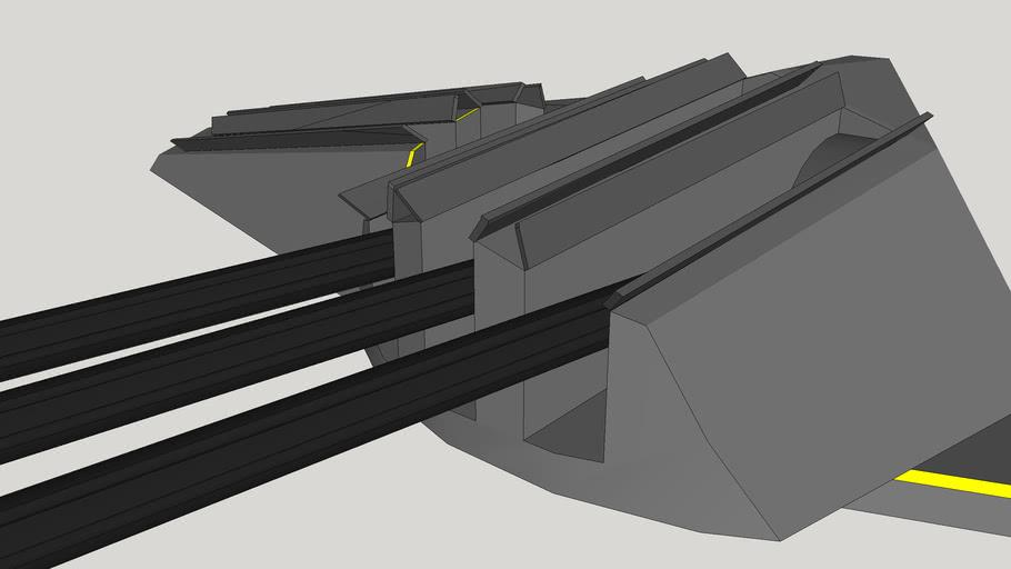 Low RCS 3 Gun 400mm Naval Gun