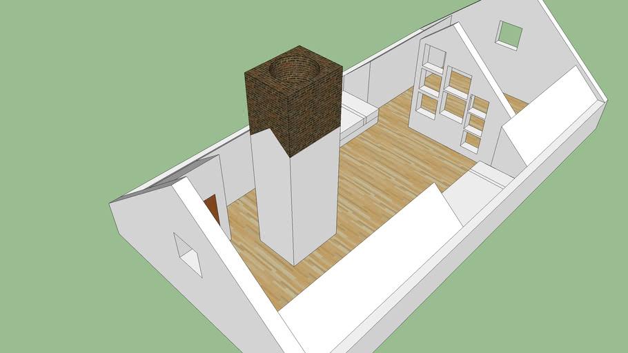 Attic Space No Dormer 3d Warehouse
