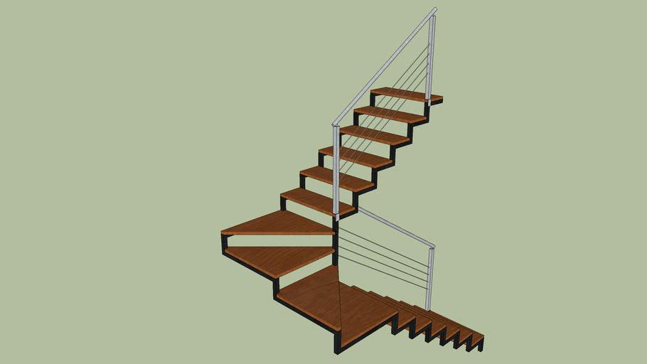 escada em madeira e ferro