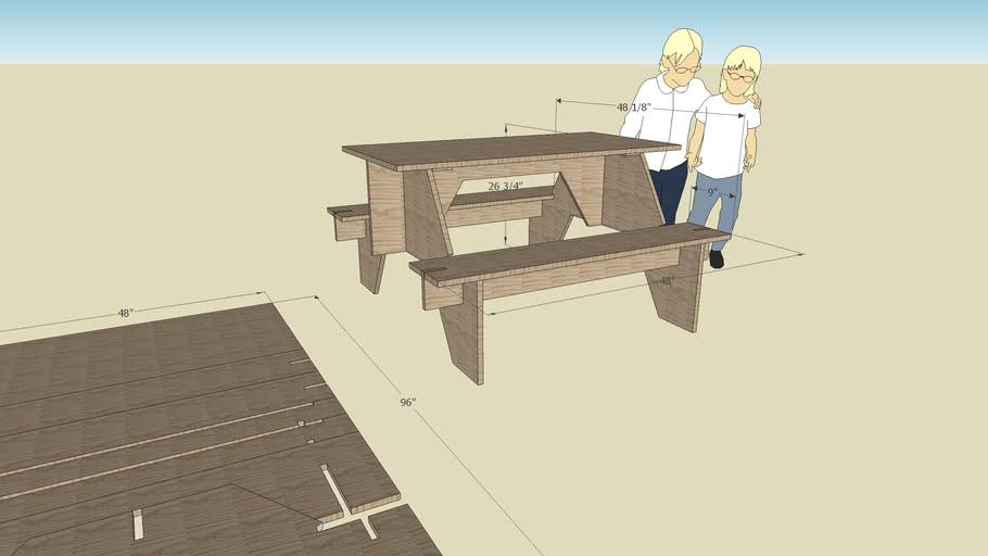 Portable picnic table.