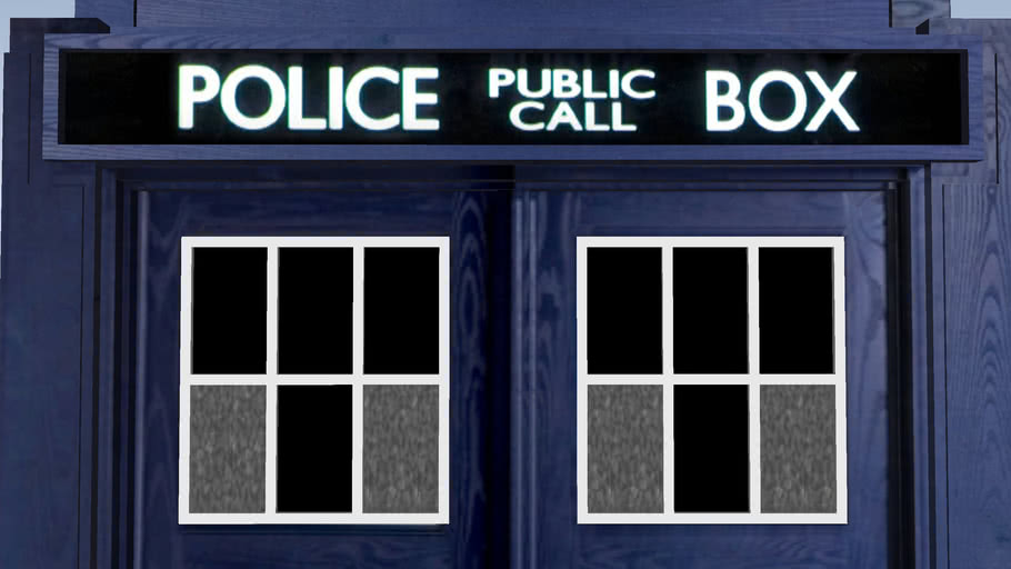 TARDIS Police Box at Wetherby Police Station UK