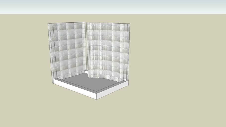 Glass Block Shower Kit
