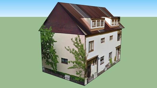 Semi-detached house 02 in Podlšková, Prague, Czech Republic