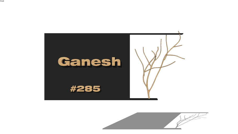 PLANTS+BRANCHES+TREE+MURAL+PAINTING+WALL HANGING+name plate