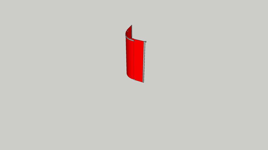 Solet/Solid 900x900 quadrant frameless enclosure Q/C 69237 KVK