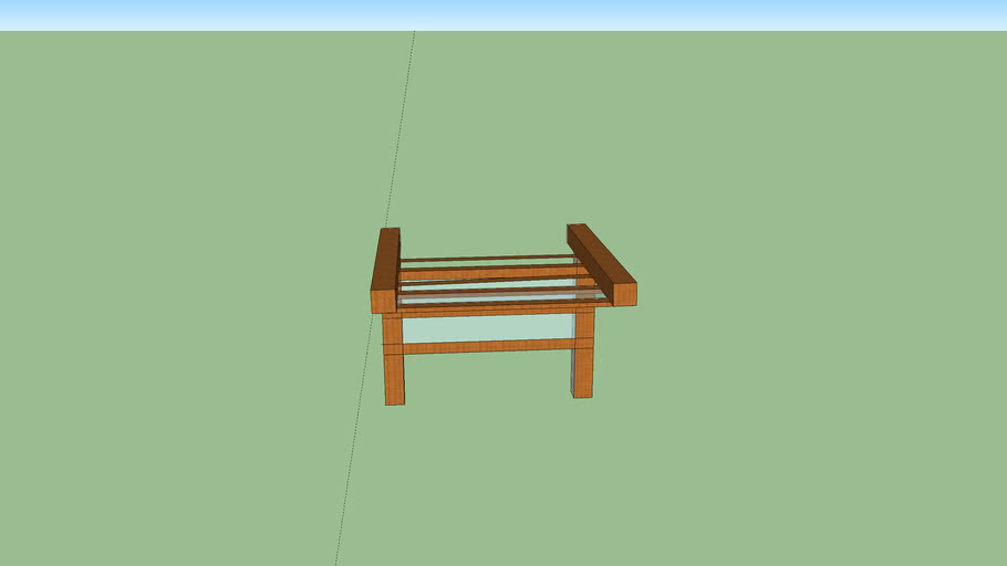 wood half pavillion