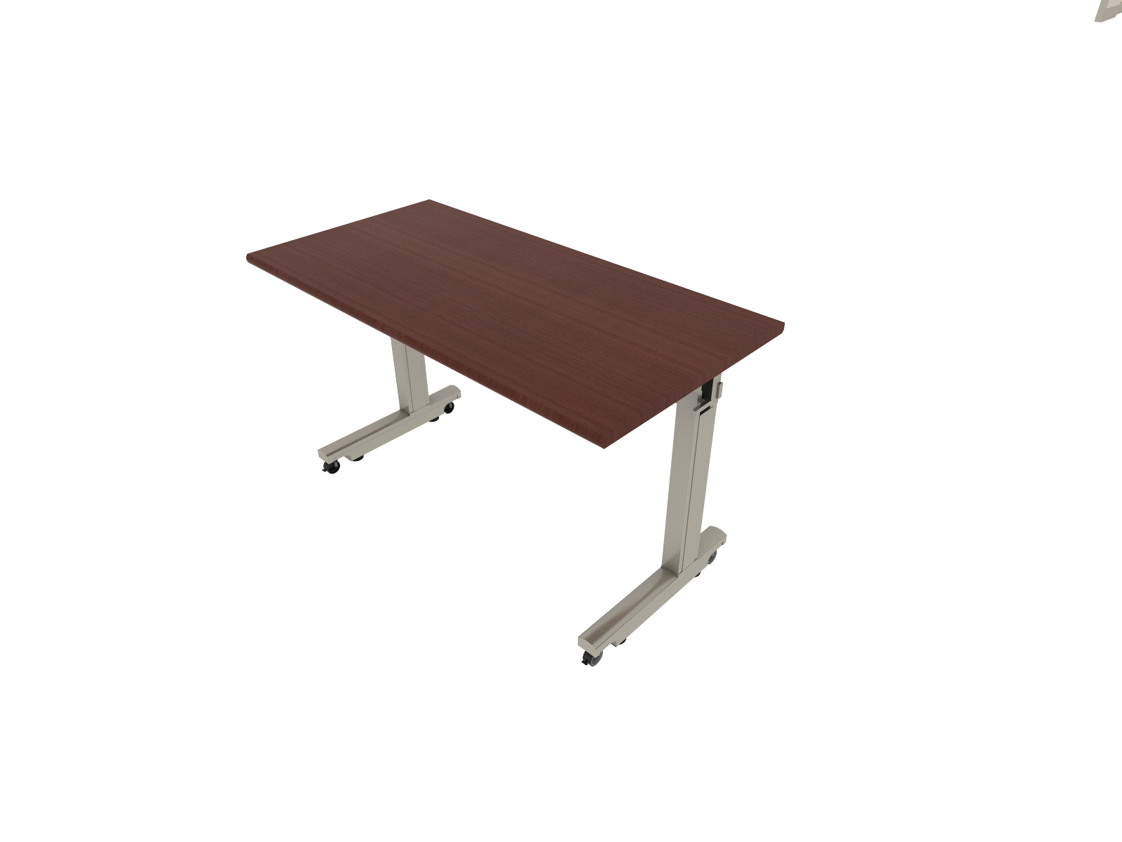 folding table with caster