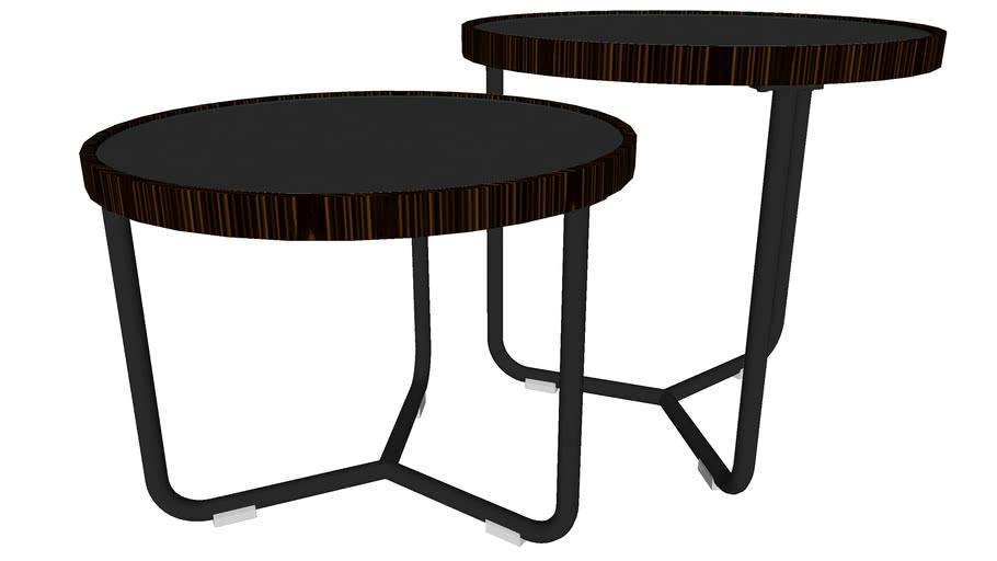 Adelphi Nesting Side Tables Black Glass by Modloft