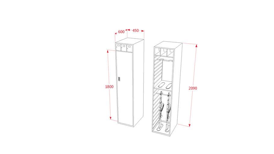 Gun cabinet Small