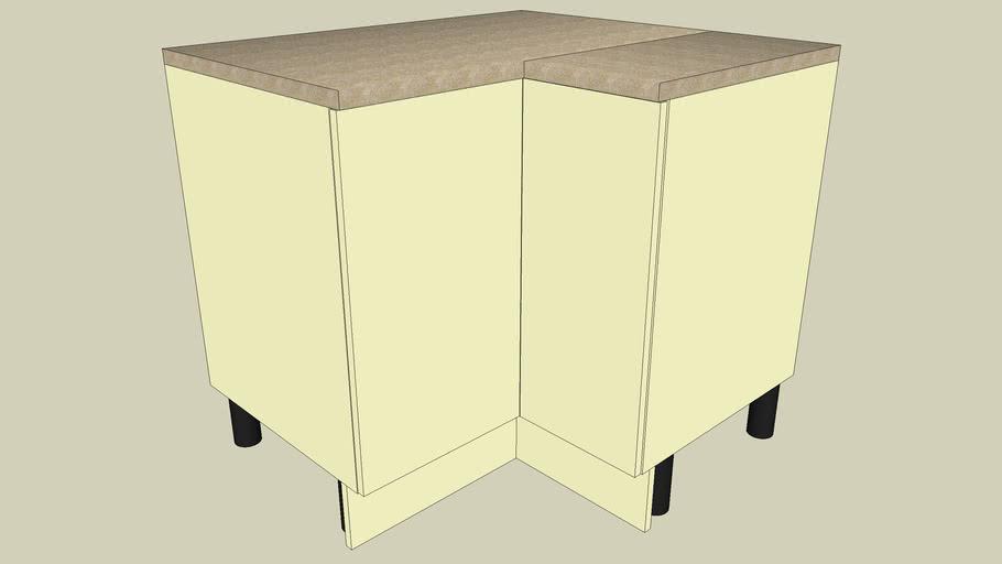 Kitchen Cabinet - 1m x 900mm Base Corner