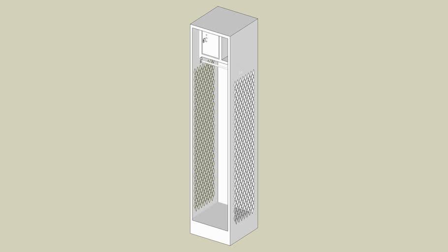 Penco Stadium Locker with Shelf and Security Box