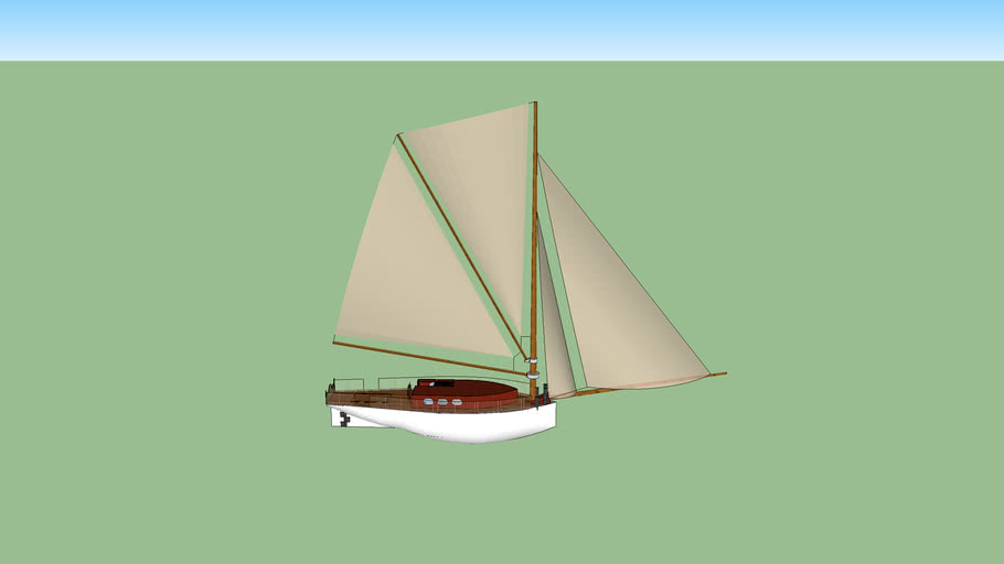 sloop like sailboat (finished , with enterier )