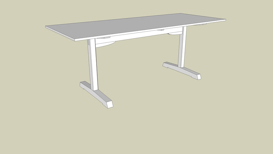 American Trestle Table from Woodworking Magazine, Issue 6
