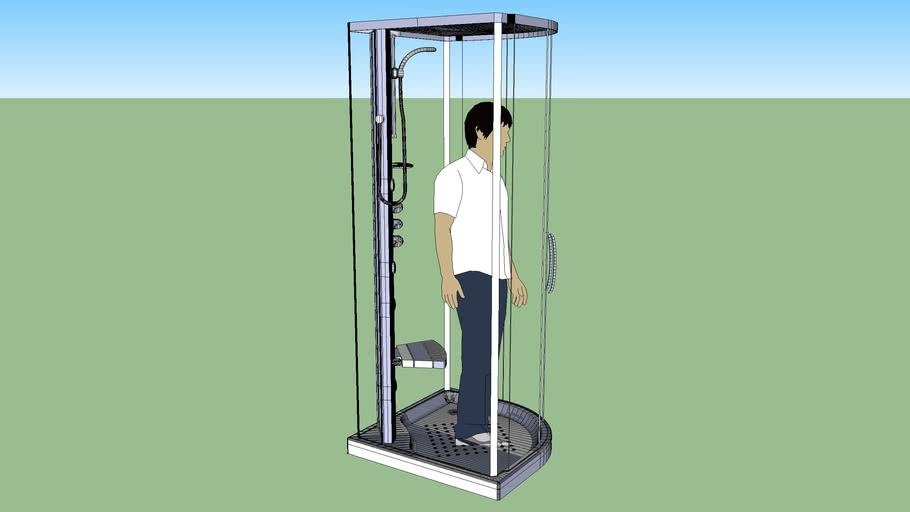 Advant 900x900 Corner Shower Tray