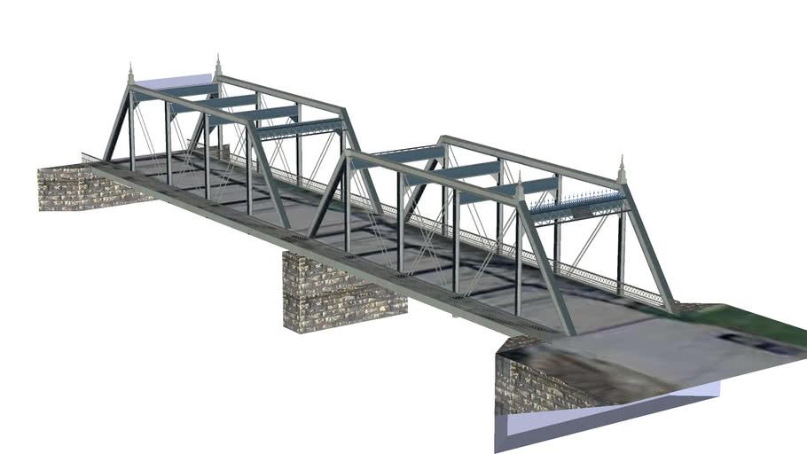 Classic Steel Bridge Crossing Platte River