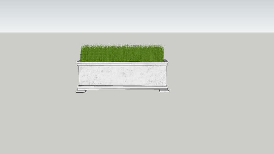 Stone Planter with Sea Grass