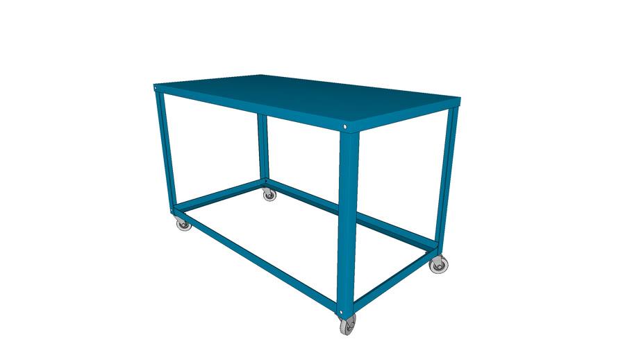 Table Metal Sur Roulette 3d Warehouse