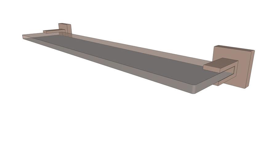DOCOL - Prateleira acrílica Square cobre escovado 388269