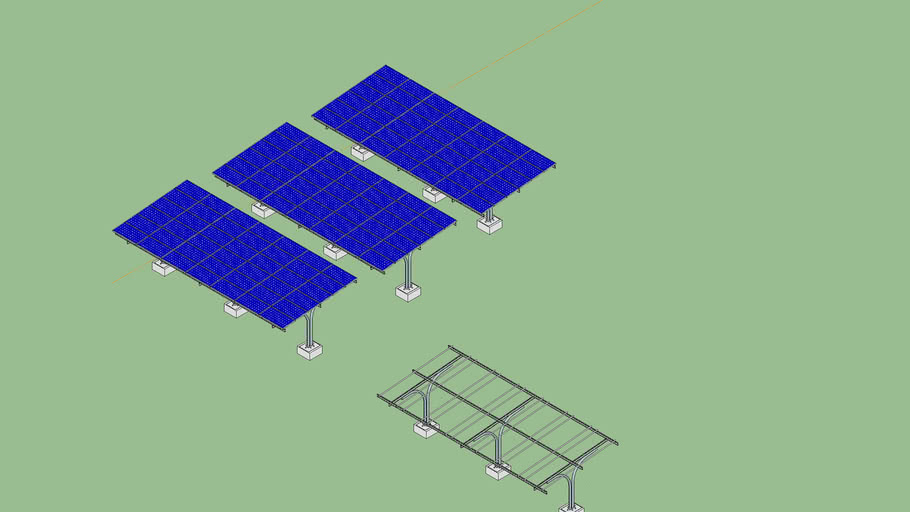 Heliofix Parking Shed Solar PV Panel Structure