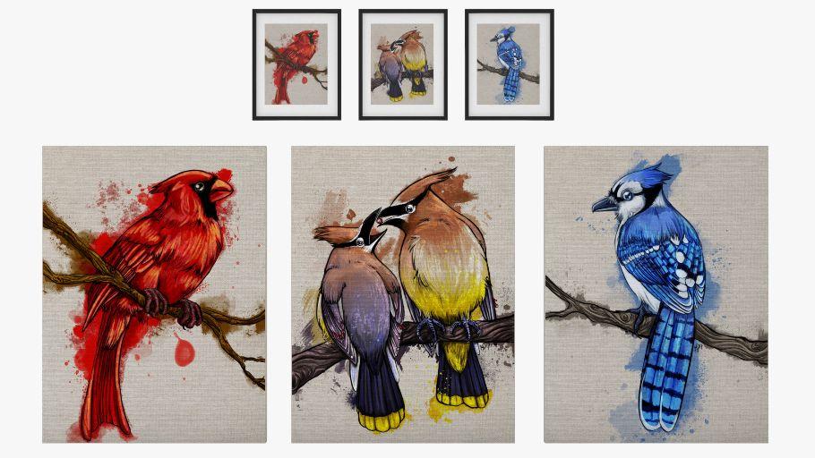 North American Bird Art Set