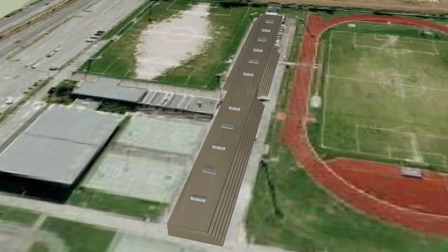 centro sportivo carraro - spalti campo atletica e calcio