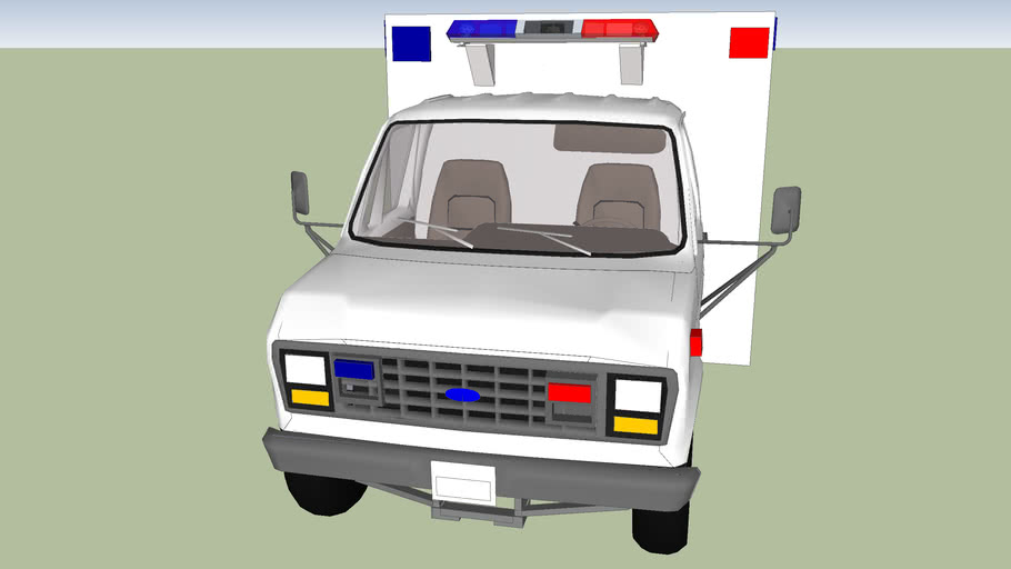 Type 3 ambulance ford econoline f 350 model 1988