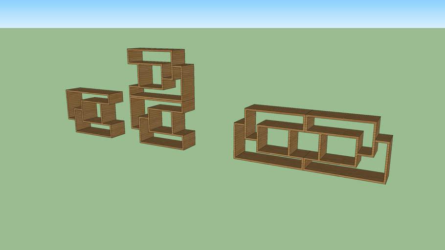estante modular Escada, Escada modular bookshelf