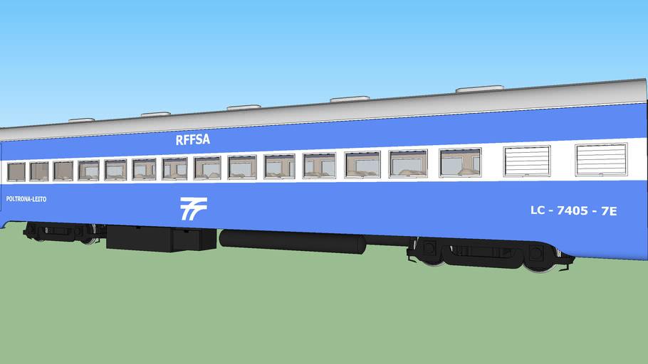 Carro Aço-carbono Poltrona Leito - RFFSA