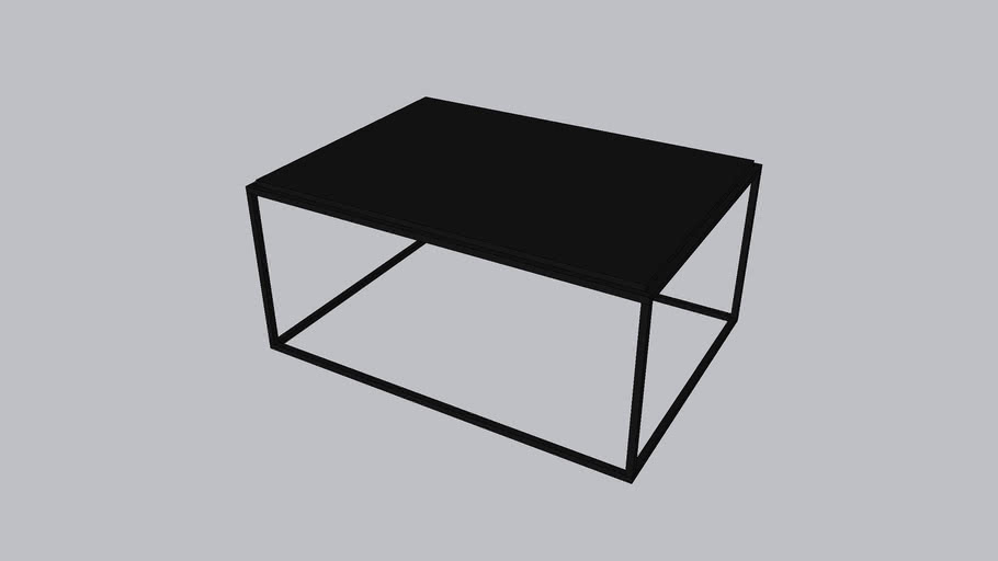 Framed L_Coffee table_Onyx Black