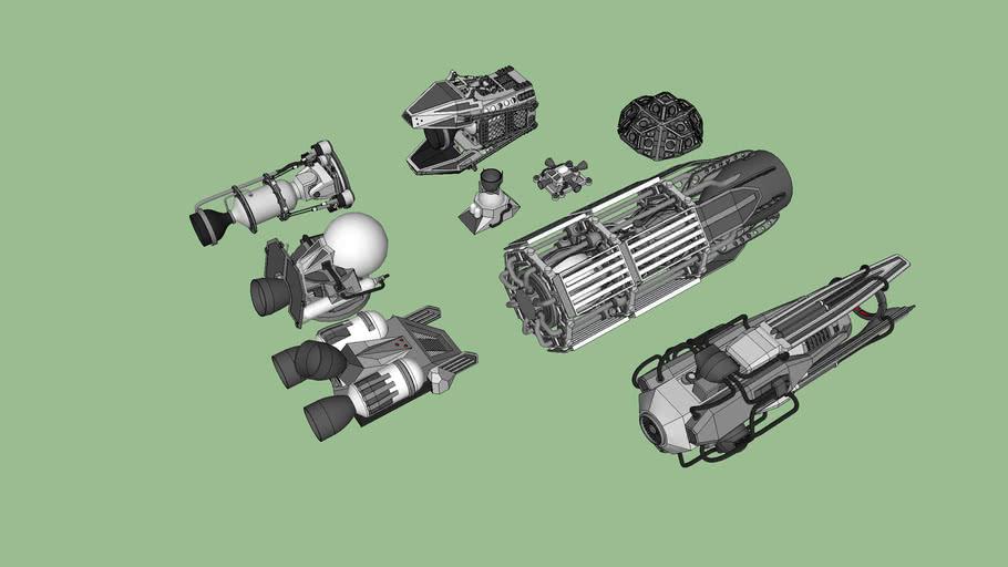 rocket motors pack space