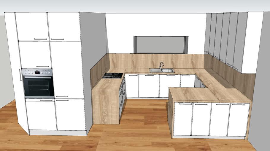 kitchen white and bardolino