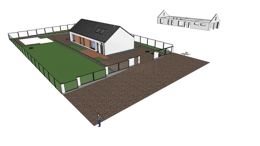 Модель современного жилого дома.