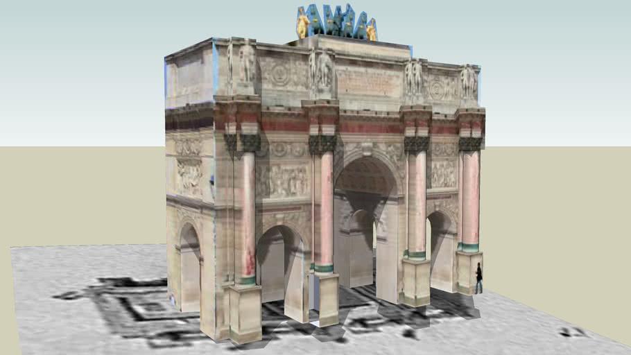 Le Louvre, l'Arc de Triomphe du Carrousel