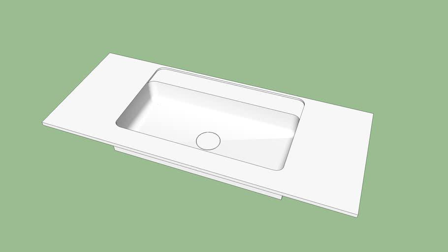 Custom-Made Vesta 90 Countertop Washbasin