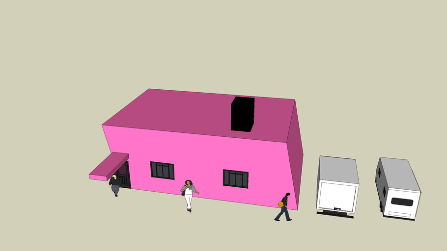 house very pink