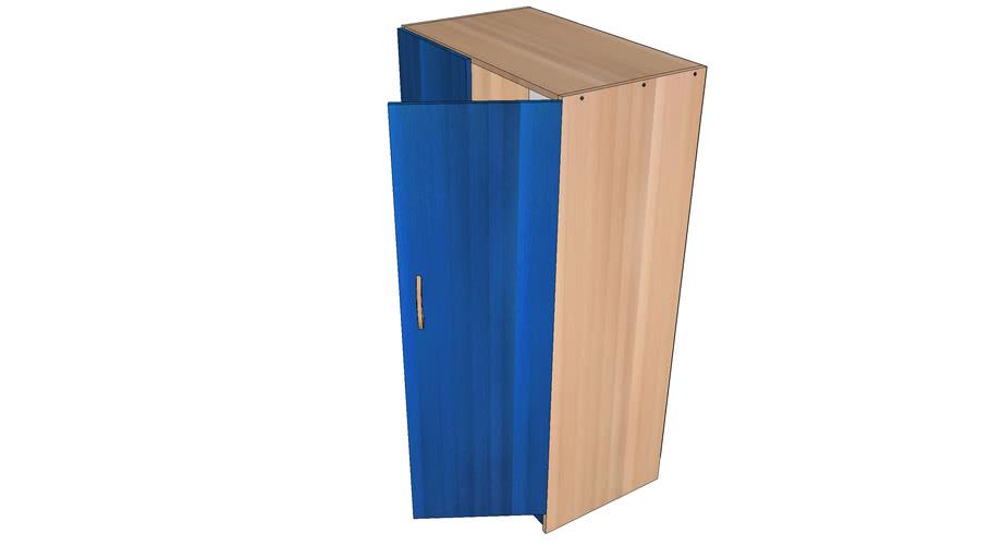 Szafa niebieska 2 drzwiowa