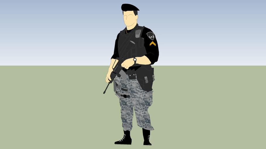 sargento de la policia municipal preventiva ssp
